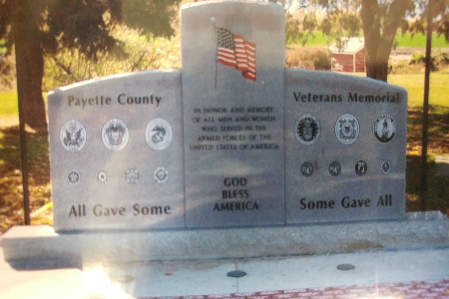 District 4 Veterans Memorial, Highway 52, Payette