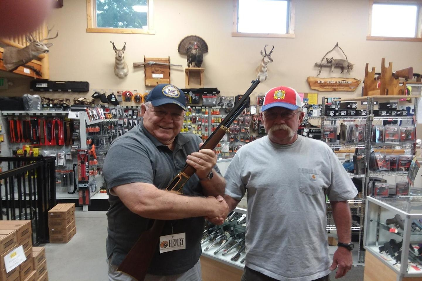 Winner of the 2018 Rifle Raffle